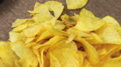 Potato Chips Rotating - stock footage