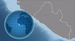 Liberia and Globe. Bumps Stock Footage