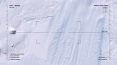 Aerial surveillance flyover of Pine Island Glacier, Antarctica. Stock Footage