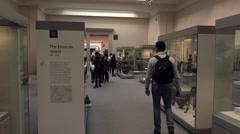 British Museum educational historic displays London England 4K Stock Footage