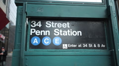 Subway Station Platform Stock Footage