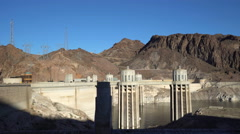 Hoover dam towers - Nevada - stock footage