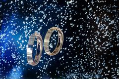 Golden Rings In The Water - stock photo