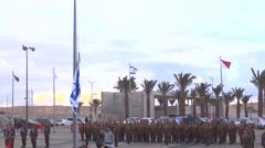 Israeli defense force ceremony Stock Footage