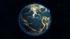 Stock Video Footage of Growing Global Network
