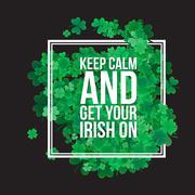 Typographic Saint Patrick's Day background - stock illustration