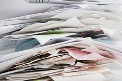 Pile of receipts Stock Photos