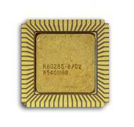 A single of Vintage ceramic 80286 CPU - stock photo