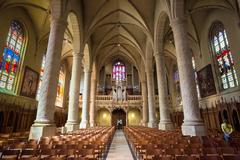 Stock Photo of Notre-Dame Cathedral, Luxembourg is the Roman Catholic Cathedral