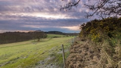 Sunset Time lapse - Rural England. 4K Dolly Shot - stock footage