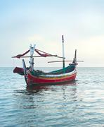 Traditional indonesian fishing boats in the ocean, Jawa island, Indonesia Kuvituskuvat