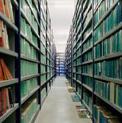 Books in an archive Stock Photos