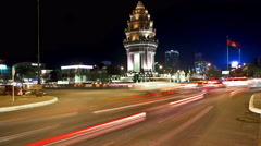 PHNOM PENH independence monument Time-Lapse Stock Footage