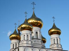 Church of Alexander Nevsky at Railway Square in Tver, Russia - stock photo