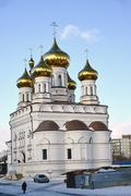Tver, Russia - February 27. 2016. Church of Alexander Nevsky at Railway Squar - stock photo