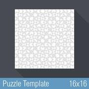 Puzzle Template 16x16 - stock illustration