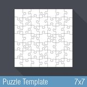Puzzle Template 7x7 - stock illustration