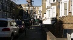 London houses, London, England, Europe - stock footage