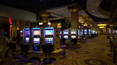 Inside the Cesar Palace casino and hotel gambling hall - Las Vegas Stock Footage