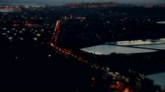 Cagliari at night from above. Sardinia. Italy. Stock Footage