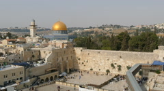 Wester Wall and Dome of the Rock 4K Stock Footage