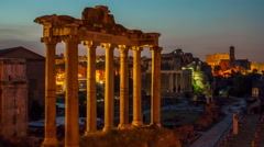 Roman forum in Rome, Italy Stock Footage
