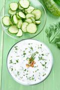 Summer soup Tarator Stock Photos