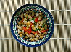 Pakistani Mixed Bean Salad Stock Photos