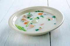 Bergen fish soup Stock Photos