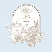 Tea, Vector Illustration Banner Stock Illustration