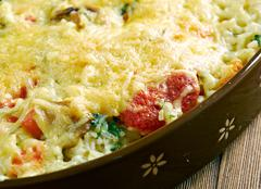 Casserole of rice, vegetables Stock Photos