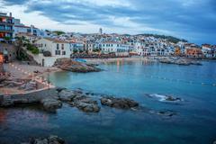 Beautiful coastal village in Spain (Llafranc) - stock photo