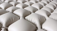 New anti-bedsore mattress inflated with air Stock Footage