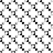 Seamless Black and White Abstract Pattern from Repetitive Concentric Arcs Stock Illustration