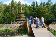Holy source in name of St. Seraphim of Sarov, Russia - stock photo