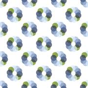 Seamless Colorful Abstract Pattern from Repetitive Concentric Circles Stock Illustration