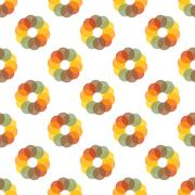 Seamless Colorful Abstract Pattern from Repetitive Concentric Circles - stock illustration