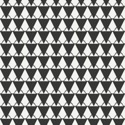 Geometric line monochrome abstract hipster seamless pattern with triangle - stock illustration