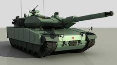 Turkish main battle tank ALTAY 3D Model