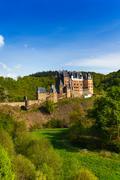 Side view Eltz castle Rhineland-Palatinate Germany Stock Photos