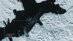Aerial surveillance flyover of Svalbard, in winter. Stock Footage