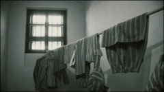 Concentration camp clothes Stock Footage