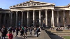 British Museum London England tourism travel 4K Stock Footage