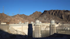 Hoover dam towers - Nevada Stock Footage