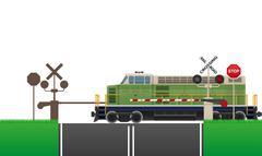 Railroad crossing vector illustration Piirros