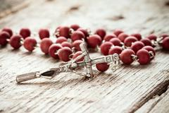 Stock Photo of Close-up of  rosary