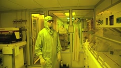 Laboratory clean room Stock Footage