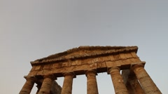 One of the  best kept Greek Temples in the world in Sicily Stock Footage