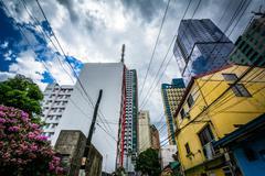 Variety of buildings in Poblacion, Makati, Metro Manila, The Philippines. Kuvituskuvat
