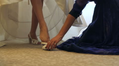 Bride dress shoes Stock Footage